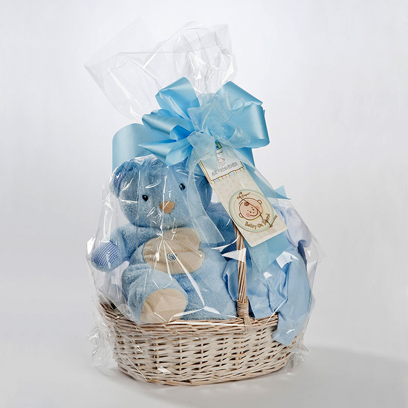 552b6ee77 Welcome Baby Boy Basket