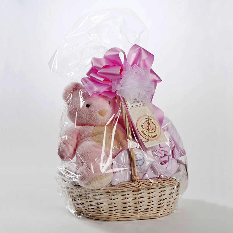 New Baby Gift Baskets Boston : Welcome baby girl basket brigham and womens gift